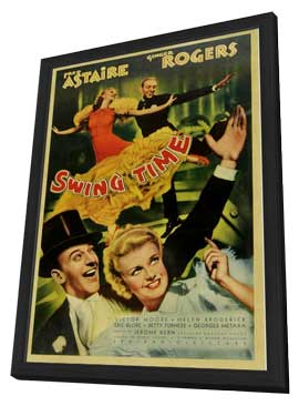 Swing Time - 11 x 17 Movie Poster - Style B - in Deluxe Wood Frame