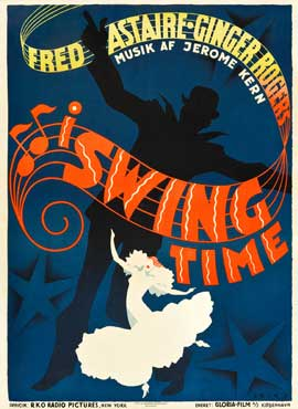 Swing Time - 11 x 17 Movie Poster - Danish Style A