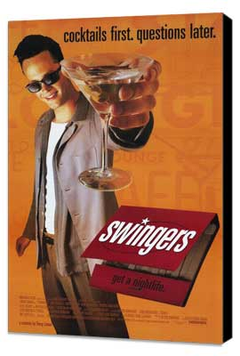 Swingers - 11 x 17 Movie Poster - Style A - Museum Wrapped Canvas