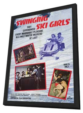 Swinging Ski Girls - 11 x 17 Movie Poster - Style A - in Deluxe Wood Frame