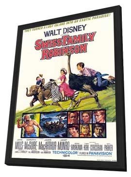 Swiss Family Robinson - 27 x 40 Movie Poster - Style A - in Deluxe Wood Frame