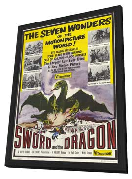 Sword and the Dragon - 11 x 17 Movie Poster - Style A - in Deluxe Wood Frame