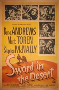 Sword in the Desert - 11 x 17 Movie Poster - Style A
