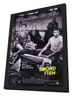 Swordfish - 27 x 40 Movie Poster - Style A - in Deluxe Wood Frame