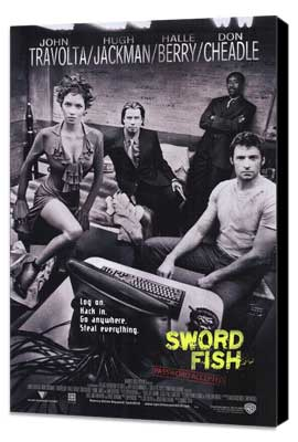 Swordfish - 27 x 40 Movie Poster - Style A - Museum Wrapped Canvas
