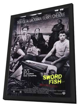 Swordfish - 11 x 17 Movie Poster - Style A - in Deluxe Wood Frame