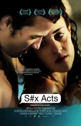 S#x Acts - 11 x 17 Movie Poster - Style A - in Deluxe Wood Frame