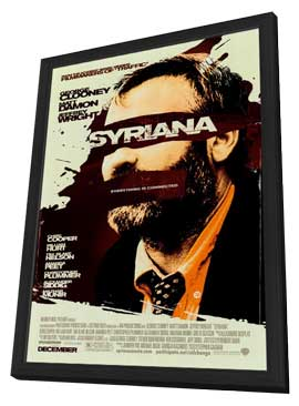 Syriana - 27 x 40 Movie Poster - Style B - in Deluxe Wood Frame