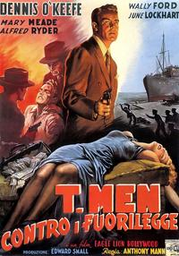 T-Men - 11 x 17 Movie Poster - Italian Style A
