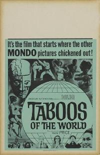 Taboos of the World - 27 x 40 Movie Poster - Style B