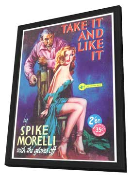 Take It and Like It - 11 x 17 Retro Book Cover Poster - in Deluxe Wood Frame