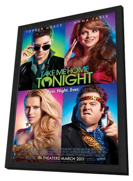 Take Me Home Tonight - 11 x 17 Movie Poster - Style A - in Deluxe Wood Frame