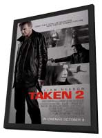 Taken 2 - 11 x 17 Movie Poster - Style C - in Deluxe Wood Frame