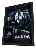 Takers - 27 x 40 Movie Poster - Style A - in Deluxe Wood Frame