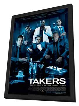 Takers - 11 x 17 Movie Poster - Style A - in Deluxe Wood Frame