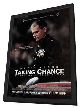 Taking Chance - 11 x 17 Movie Poster - Style A - in Deluxe Wood Frame