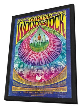 Taking Woodstock - 27 x 40 Movie Poster - Swiss Style B - in Deluxe Wood Frame