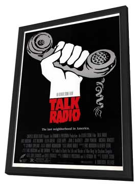 Talk Radio - 27 x 40 Movie Poster - Style A - in Deluxe Wood Frame