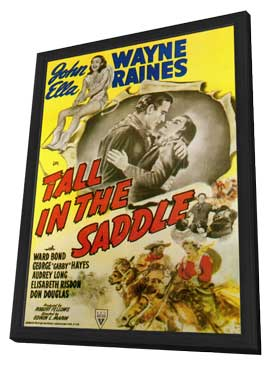 Tall in the Saddle - 11 x 17 Movie Poster - Style B - in Deluxe Wood Frame