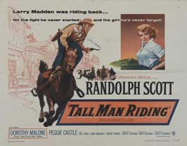 Tall Man Riding - 22 x 28 Movie Poster - Half Sheet Style A