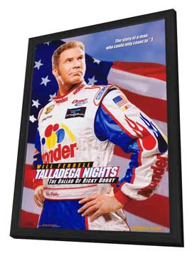 Talladega Nights: The Ballad of Ricky Bobby - 11 x 17 Movie Poster - Style A - in Deluxe Wood Frame