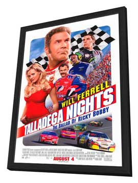 Talladega Nights: The Ballad of Ricky Bobby - 11 x 17 Movie Poster - Style B - in Deluxe Wood Frame