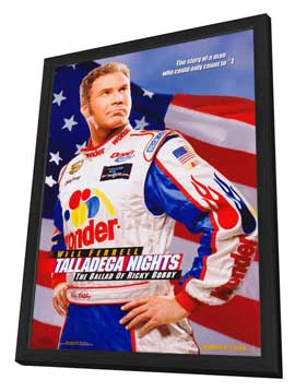 Talladega Nights: The Ballad of Ricky Bobby - 27 x 40 Movie Poster - Style A - in Deluxe Wood Frame