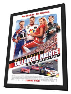Talladega Nights: The Ballad of Ricky Bobby - 27 x 40 Movie Poster - Style C - in Deluxe Wood Frame