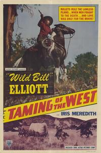 Taming of the West - 27 x 40 Movie Poster - Style A