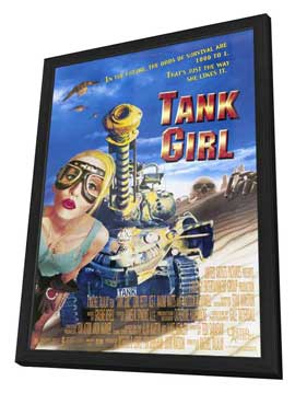 Tank Girl - 27 x 40 Movie Poster - Style B - in Deluxe Wood Frame