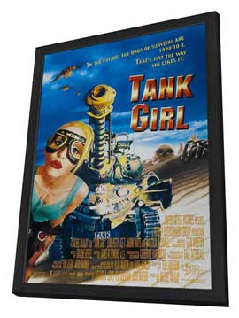 Tank Girl - 27 x 40 Movie Poster - Style D - in Deluxe Wood Frame
