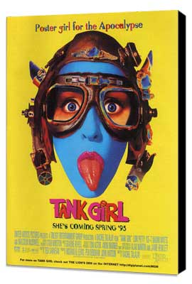 Tank Girl - 11 x 17 Movie Poster - Style D - Museum Wrapped Canvas