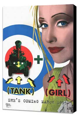 Tank Girl - 27 x 40 Movie Poster - Style A - Museum Wrapped Canvas