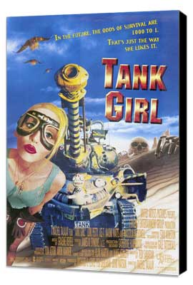 Tank Girl - 27 x 40 Movie Poster - Style B - Museum Wrapped Canvas