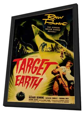 Target Earth - 11 x 17 Movie Poster - Style A - in Deluxe Wood Frame
