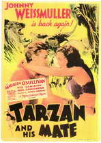 Tarzan and His Mate - 11 x 17 Movie Poster - Style B