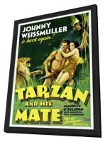 Tarzan and His Mate - 27 x 40 Movie Poster - Style C - in Deluxe Wood Frame