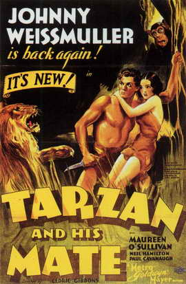 Tarzan and His Mate - 11 x 17 Movie Poster - Style C