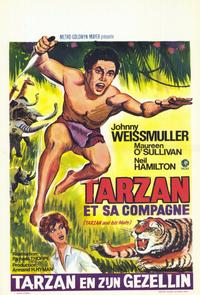 Tarzan and His Mate - 11 x 17 Movie Poster - Belgian Style A