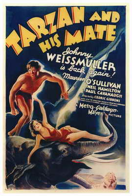 Tarzan and His Mate - 27 x 40 Movie Poster - Style A