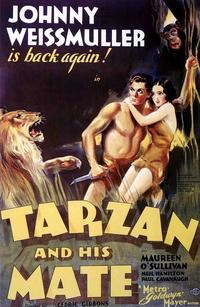 Tarzan and His Mate - 11 x 17 Movie Poster - Style E