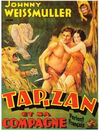Tarzan and His Mate - 11 x 17 Movie Poster - French Style A