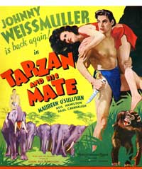 Tarzan and His Mate - 11 x 17 Movie Poster - Style F