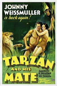 Tarzan and His Mate - 27 x 40 Movie Poster - Style C