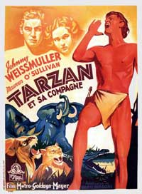 Tarzan and His Mate - 11 x 17 Movie Poster - Spanish Style B