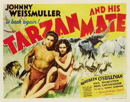Tarzan and His Mate - 22 x 28 Movie Poster - Half Sheet Style A
