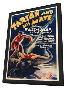 Tarzan and His Mate - 11 x 17 Movie Poster - Style A - in Deluxe Wood Frame