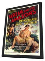 Tarzan and the Amazons - 11 x 17 Movie Poster - Style A - in Deluxe Wood Frame