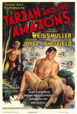Tarzan and the Amazons - 11 x 17 Movie Poster - Style A