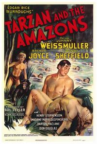 Tarzan and the Amazons - 27 x 40 Movie Poster - Style A